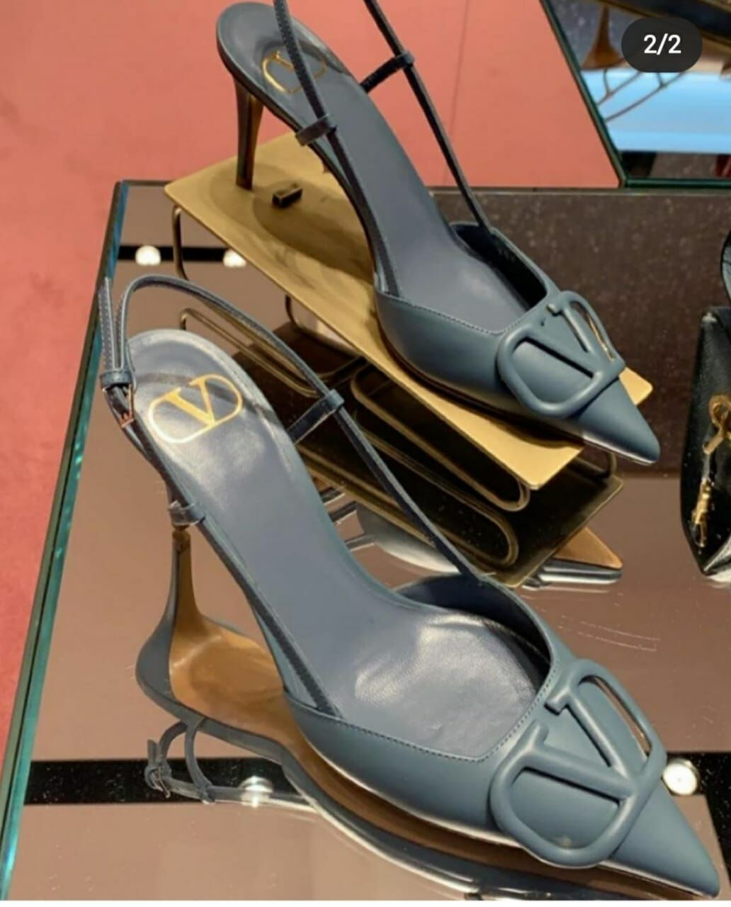 Valentino Garavani Leather Sandal Shoes V80779 Blue