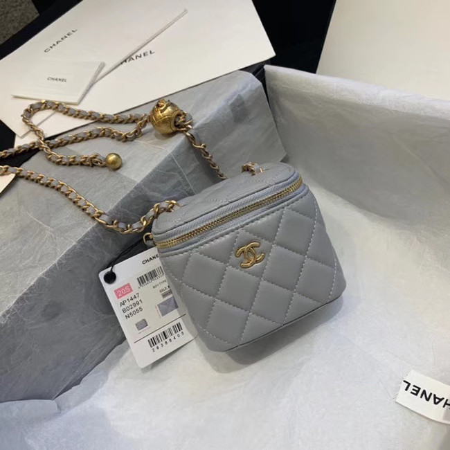 Chanel Original Small classic chain box handbag AP1447 light grey