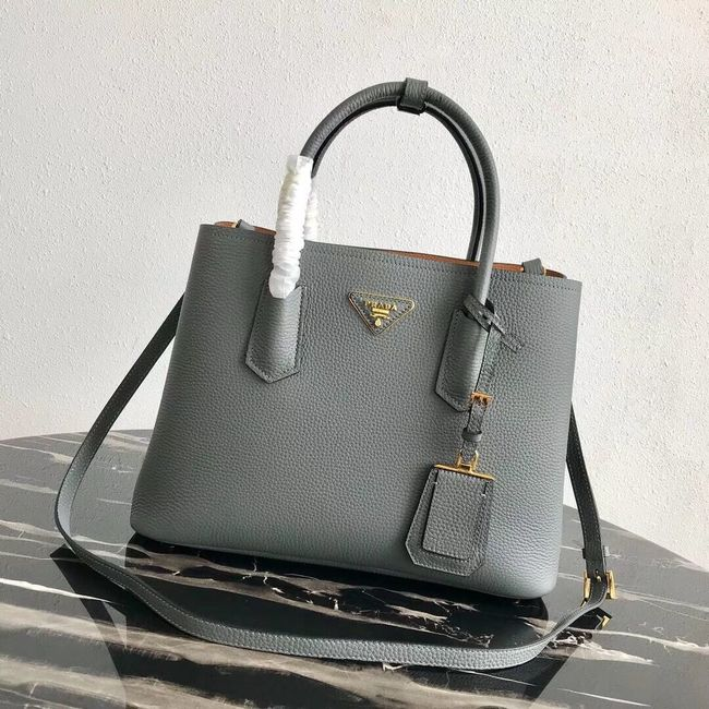 Prada Deer skin bag 1BG008 grey