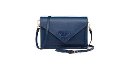 Prada Saffiano leather mini-bag 1BP020 blue