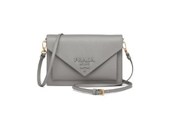 Prada Saffiano leather mini-bag 1BP020 grey