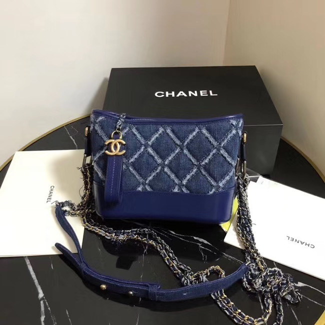 Chanel gabrielle small hobo Denim bag A91810 blue