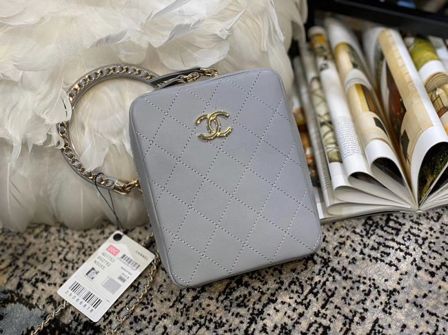 Chanel Original Small Sheepskin camera bag AS1753 grey