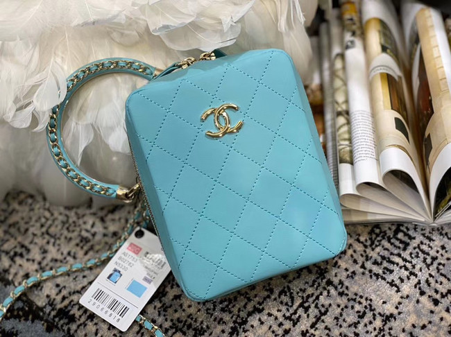 Chanel Original Small Sheepskin camera bag AS1753 light blue