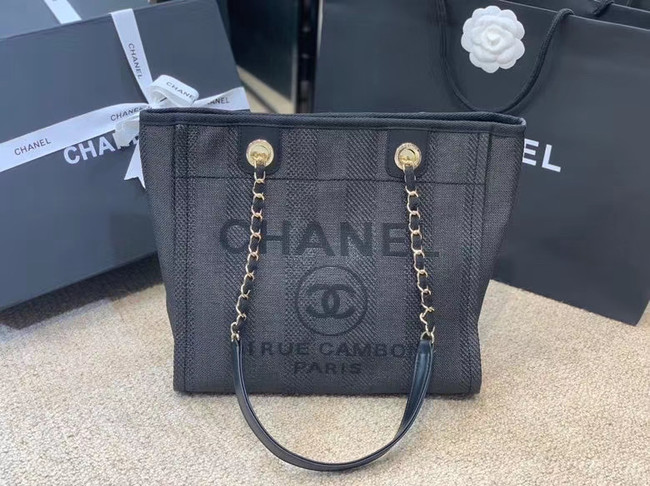 Chanel Shoulder Bag A66942 dark blue