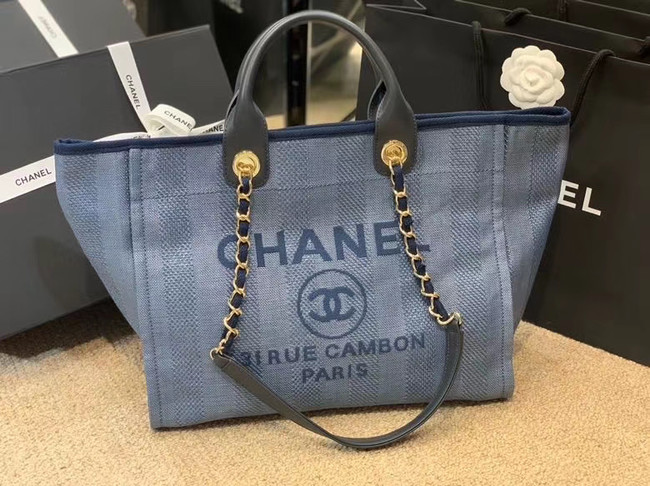 Chanel Shopping bag A66941 blue