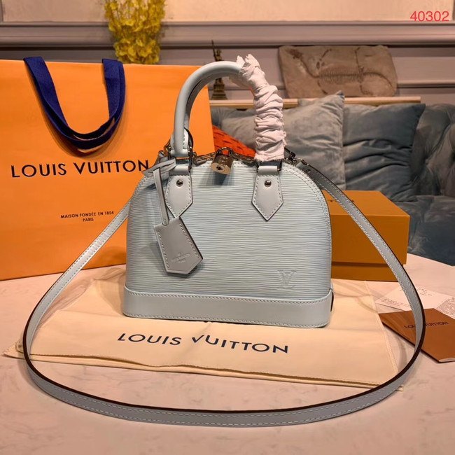 LOUIS VUITTON M40302 EPI LEATHER ALMA SMALL LIGHT BLUE