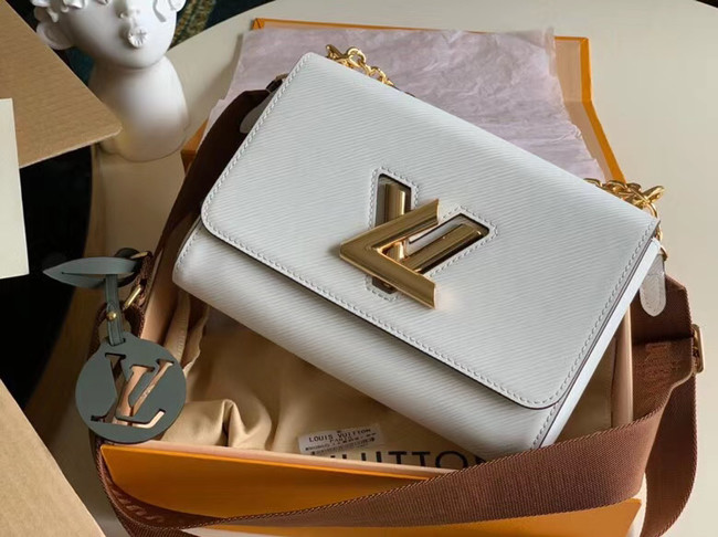 Louis vuitton original epi leather TWIST M50280 white