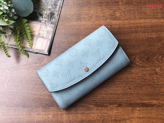 Louis vuitton original Iris Wallet M60145 blue