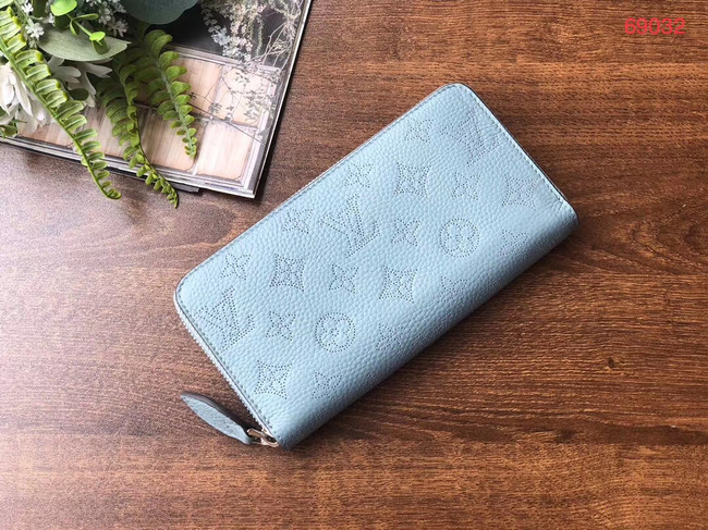 Louis vuitton original Iris ZIPPY Wallet M69032 blue