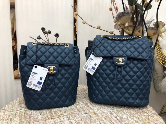 Chanel Backpack Sheepskin Original Leather 83431 blue