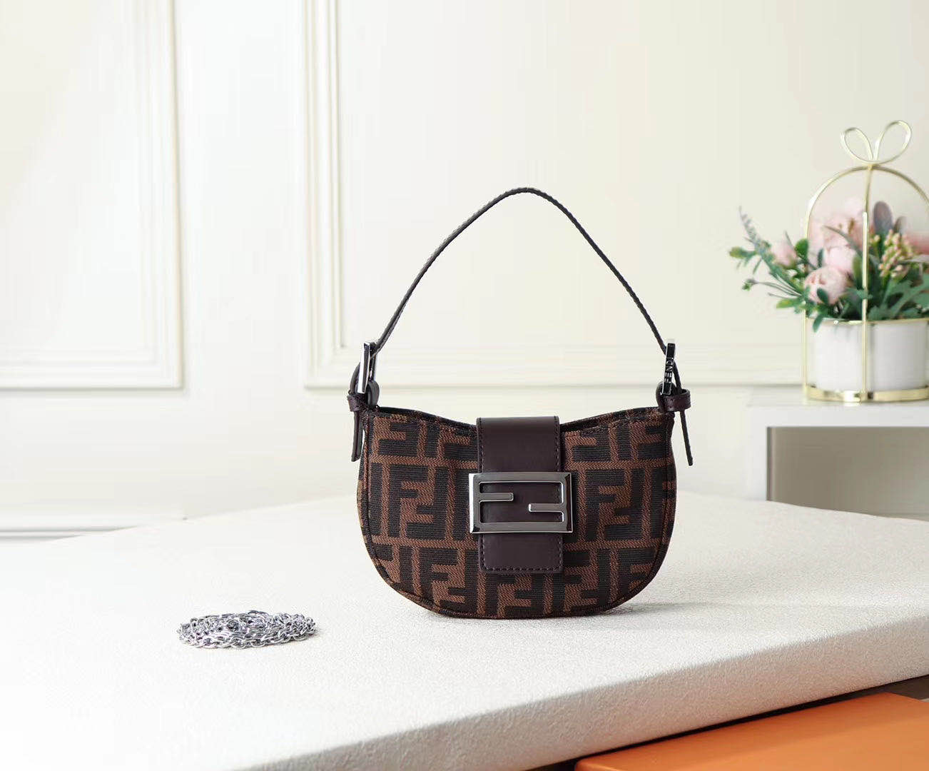 FENDI fabric bag F0399 Brown