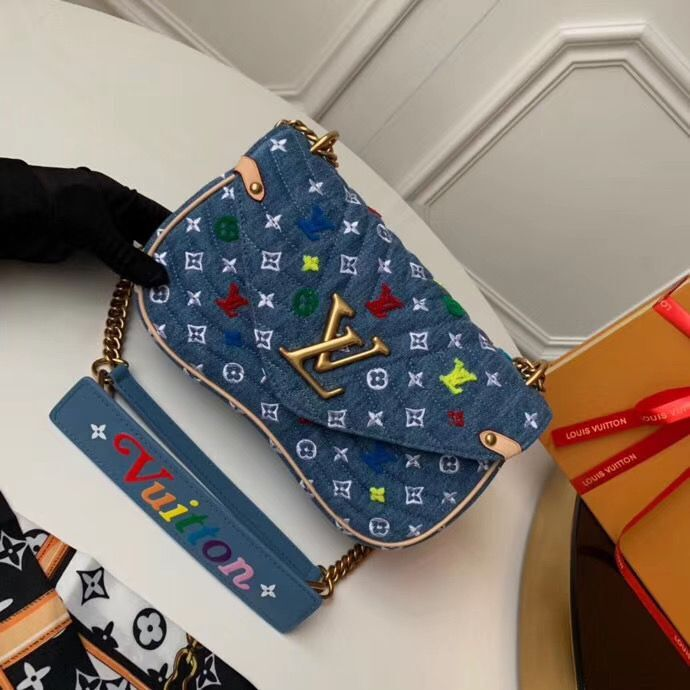 Louis vuitton Original NEW WAVE Medium Bag M53692 Blue