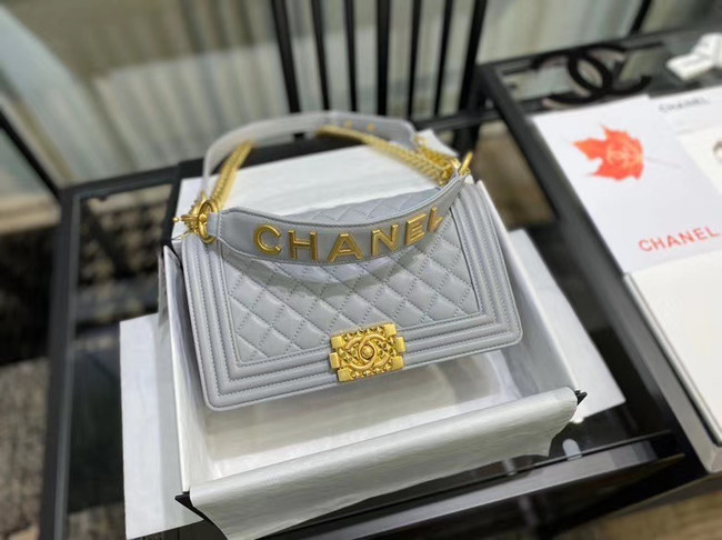 BOY CHANEL flap bag A67086 grey