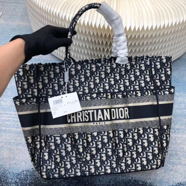 DIOR Beach Bag CANVAS C0175 BLUE