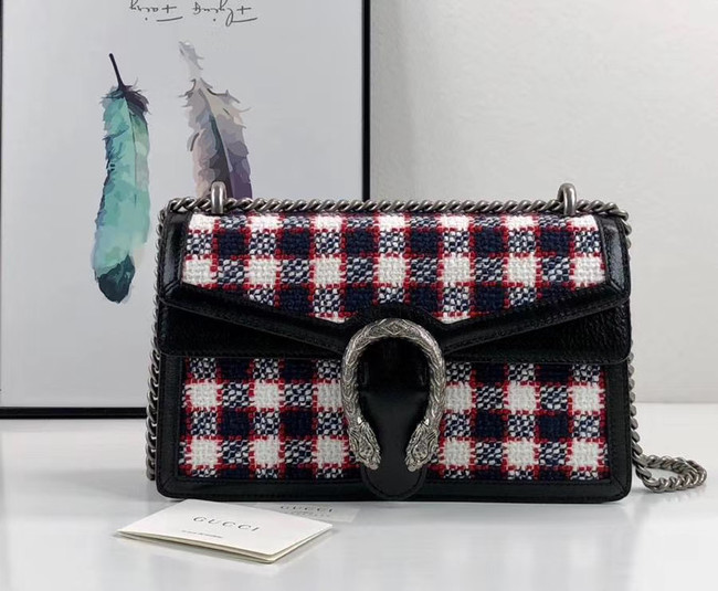 Gucci Dionysus GG Original tweed Shoulder Bag AS400249 blue