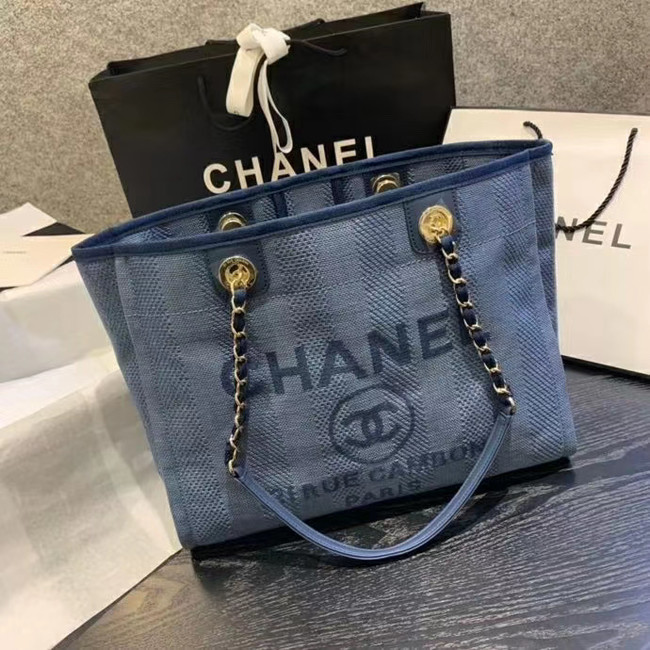 Chanel Large Shoulder Bag A67001 blue