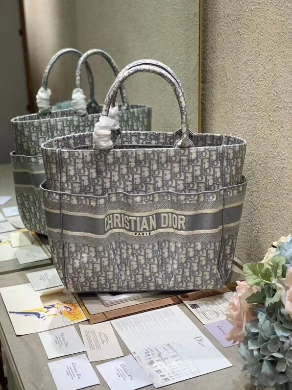 DIOR Beach Bag CANVAS C0175 GREY