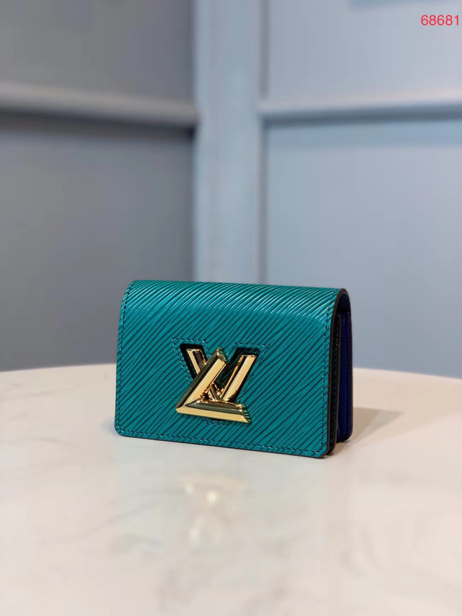 Louis vuitton original TWIST MULTICARTES card holder M68681 blue
