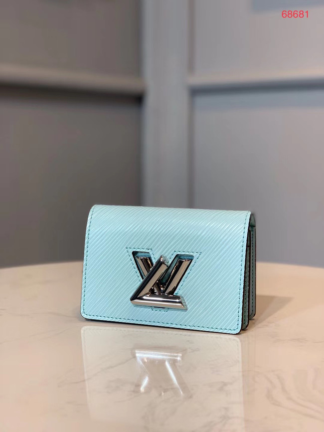 Louis vuitton original TWIST MULTICARTES card holder M68681 sky blue