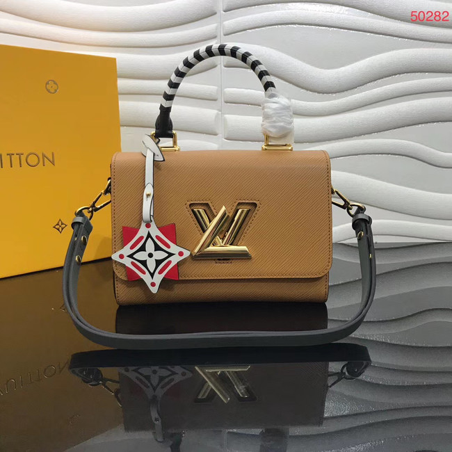 Louis vuitton original CRAFTY TWIST tote bag M56780 Caramel