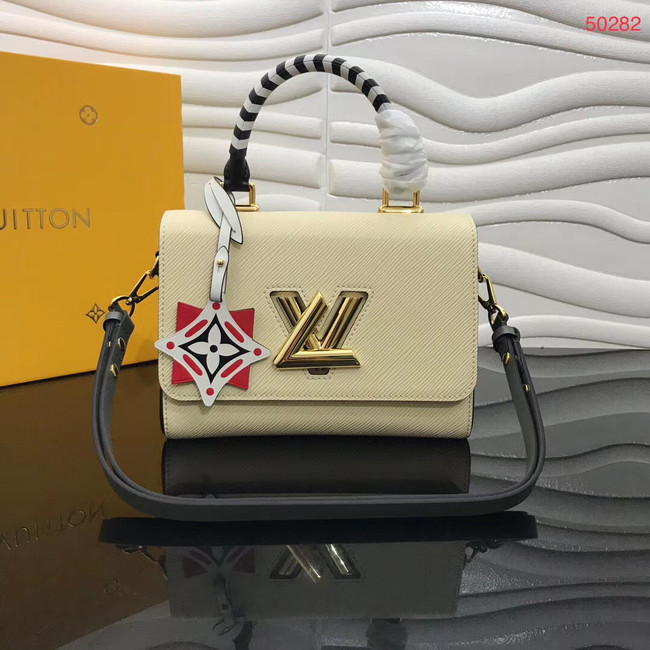 Louis vuitton original CRAFTY TWIST tote bag M56780 cream