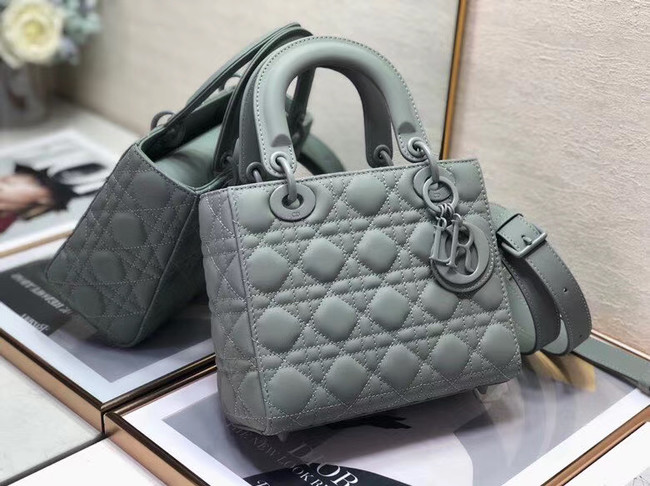 Dior Lady Dior Bag Original Sheepskin Leather CD5501 grey