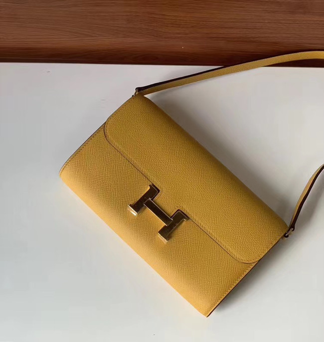 Hermes Constance to go mini Bag H4088 yellow