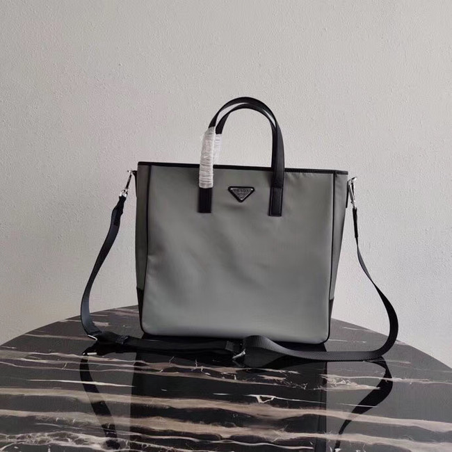 Prada Re-Edition nylon tote 1BD071 2VG064 grey