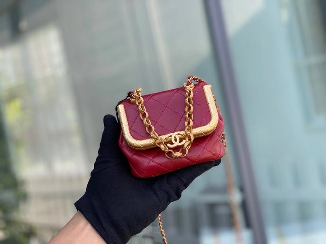 Chanel Original mini Magnet buckle bag AS1885 red