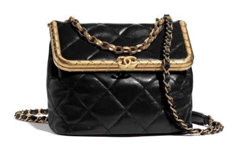 Chanel Original mini Magnet buckle bag AS1886 black