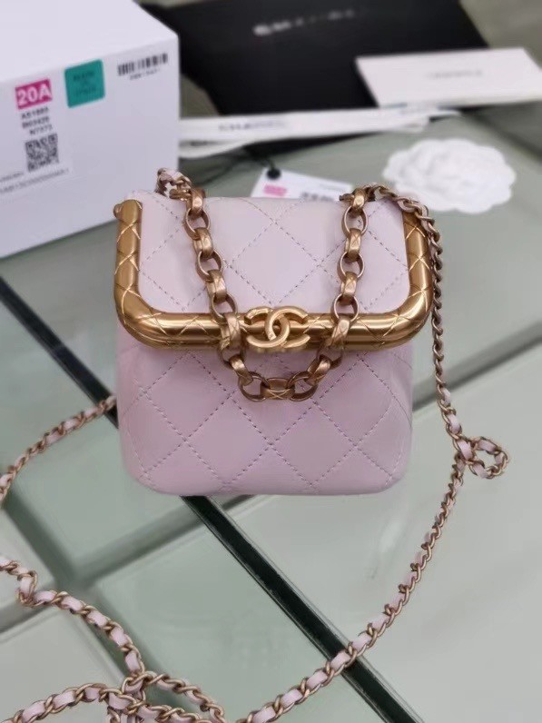 Chanel Original mini Magnet buckle bag AS1886 pink