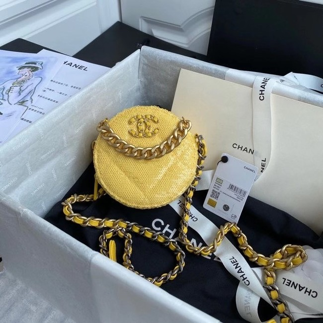 Chanel 19 chain Bag AP0945 Yellow