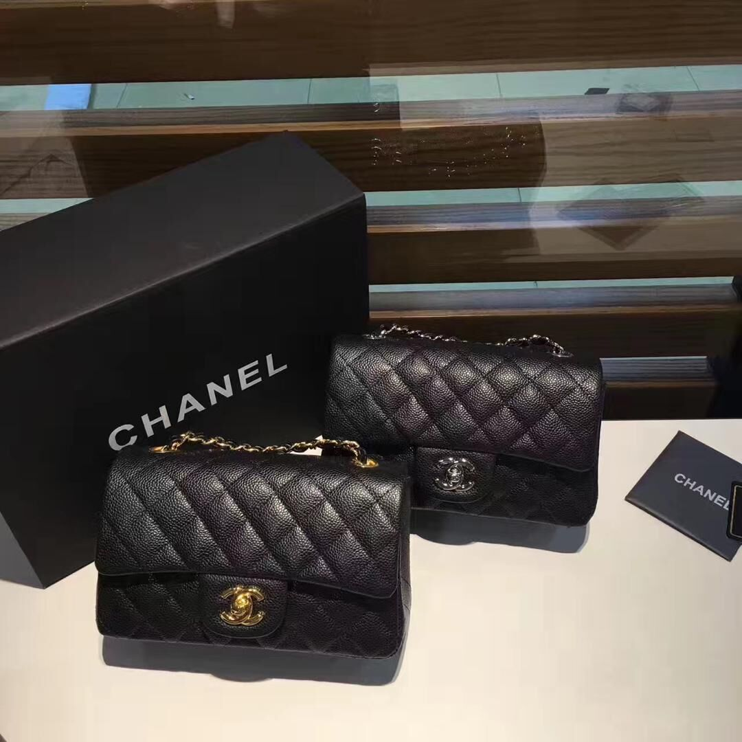 Chanel Original Lather Flap Bag 1116 black