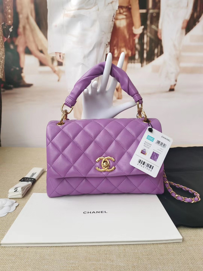 Chanel Original Lather Flap Bag AS2044 Lavender