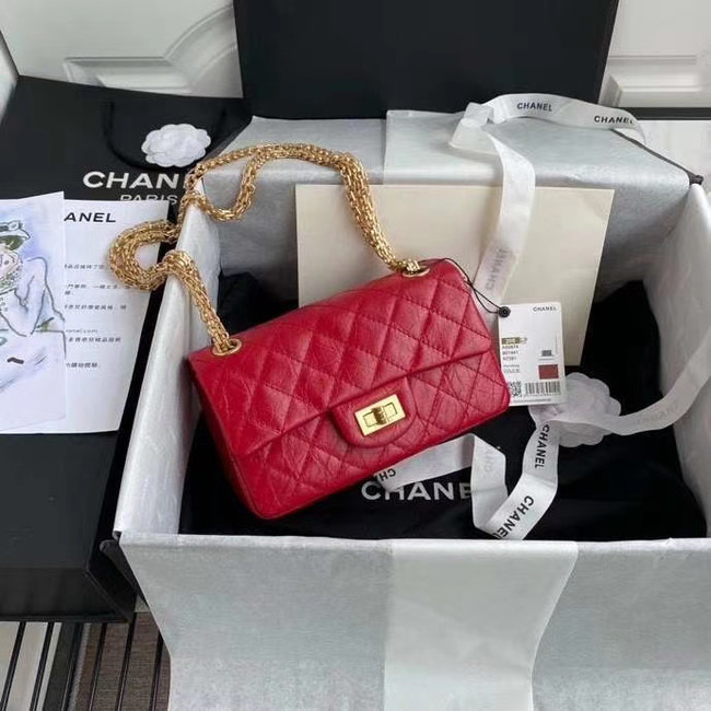 Chanel 2.55 Calfskin Flap Bag A37586 red