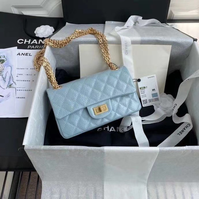 Chanel 2.55 Calfskin Flap Bag A37586 sky blue