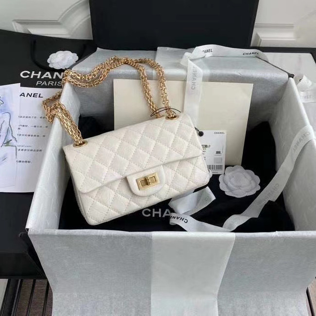 Chanel 2.55 Calfskin Flap Bag A37586 white