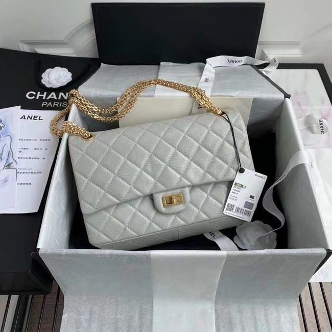 Chanel 2.55 Calfskin Flap Bag A37587 light grey