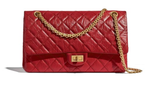 Chanel 2.55 Calfskin Flap Bag A37587 red