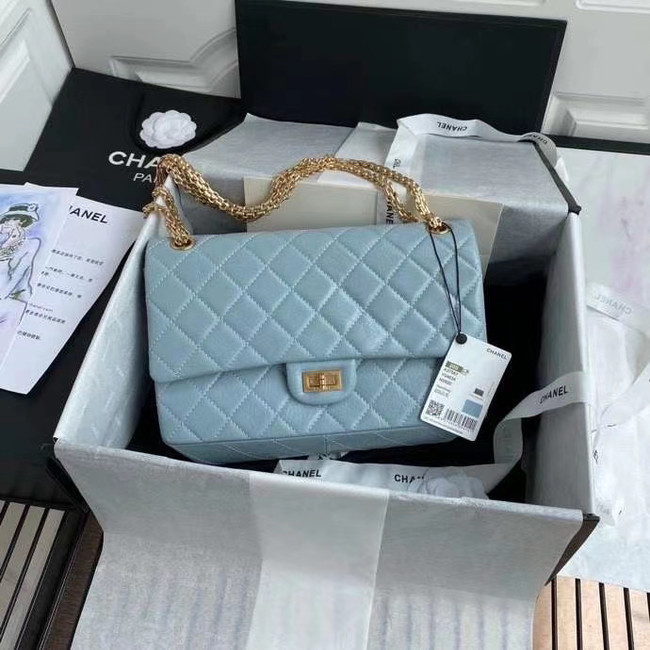 Chanel 2.55 Calfskin Flap Bag A37587 sky blue