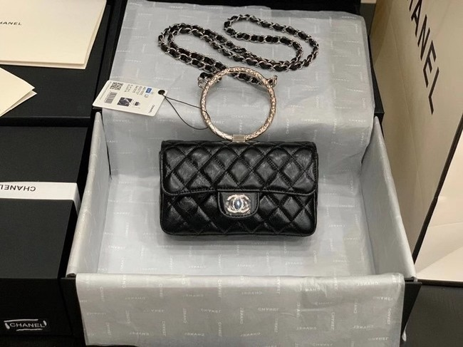 Chanel Flap Original Lambskin Leather Shoulder Bag AS1665 black