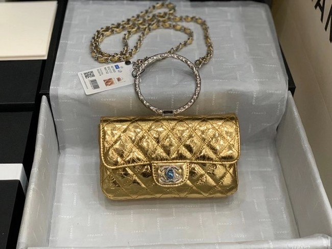 Chanel Flap Original Lambskin Leather Shoulder Bag AS1665 gold