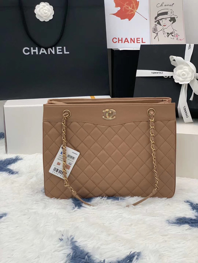 Chanel Original Lather Bag AS2784 apricot