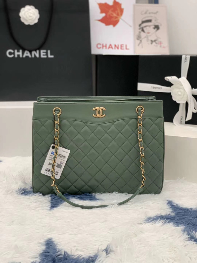 Chanel Original Lather Bag AS2784 green