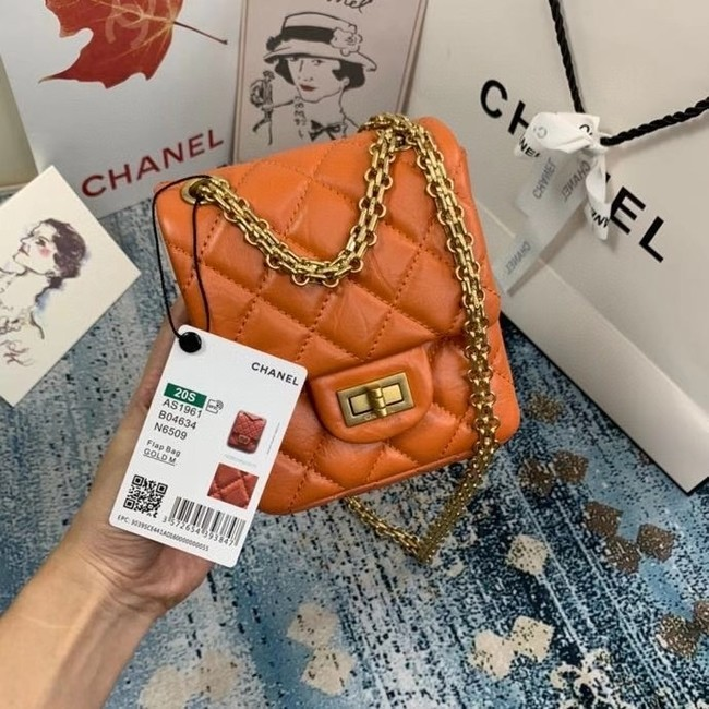 Chanel Small 2.55 Flap Bag AS1961 orange