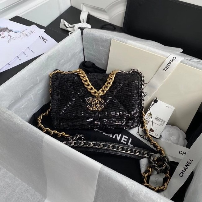 Chanel 19 Chain Wallet WOC AP0957 black