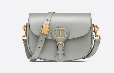MEDIUM DIOR BOBBY BAG Box Calfskin M9319 grey