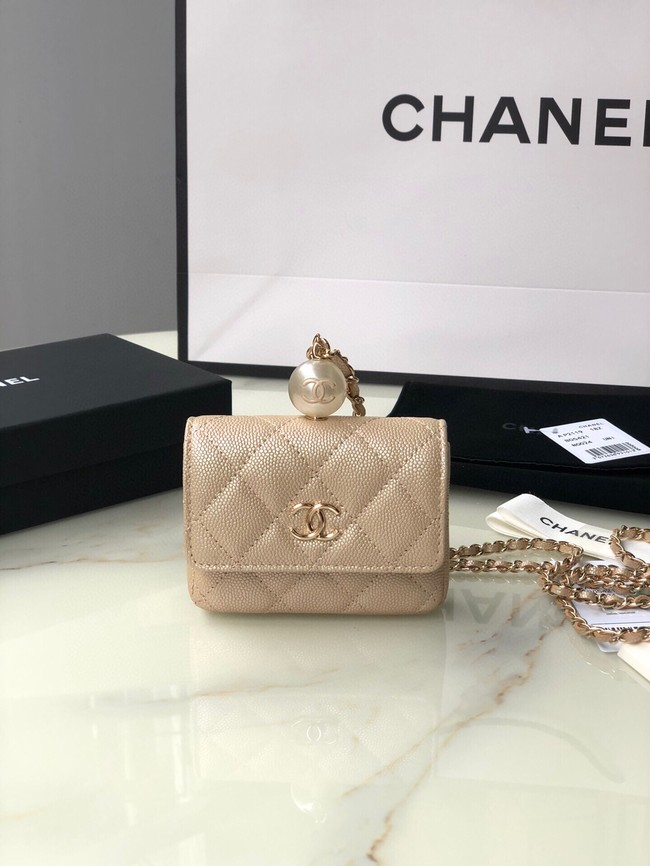 Chanel flap coin purse with chain AP2119 gold