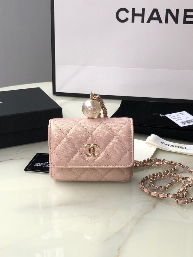 Chanel flap coin purse with chain AP2119 pink